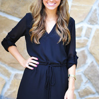 Gotta Get Up And Try Tunic: Black | Hope's