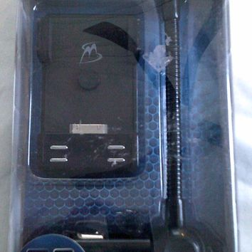 MobileSpec MSIF1500 FM Transmitter w/Gooseneck Dock Stand for iPod/iPhone to Vehicle Stereo - New