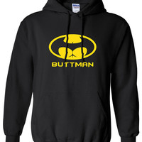 Butt signal buttman butt man hoody hero Clothing bruce Unisex Style Funny hoodie hooded sweater comic book ML-551
