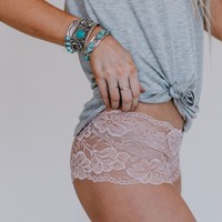 Lace In Love Boyshort - Pink