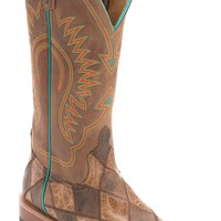 Anderson Bean® Men's Brown & Tan Crazy Train Patchwork Square Toe Western Boots