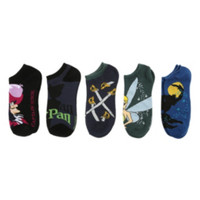 Disney Peter Pan No-Show Socks 5 Pair