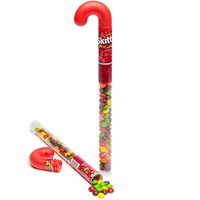 Skittles Filled Tubular Candy Cane