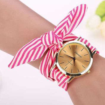 7 Colors Quartz-Watch Bracelet Wristwatch For Women