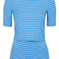Striped Pyjama Set - Blue