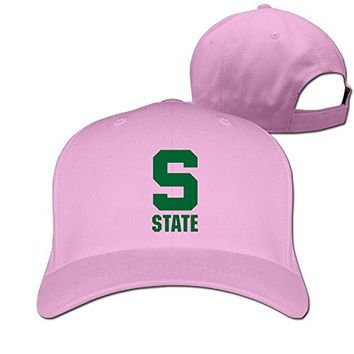 Yesher Funny Michigan S Logo State University Baseball Cap - Adjustable Hat - Pink