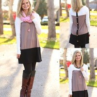 Button Up Tunic in Mocha