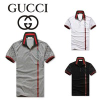 Hot Sale Gucci MEN Polo Shirt 100% COTTON TOP