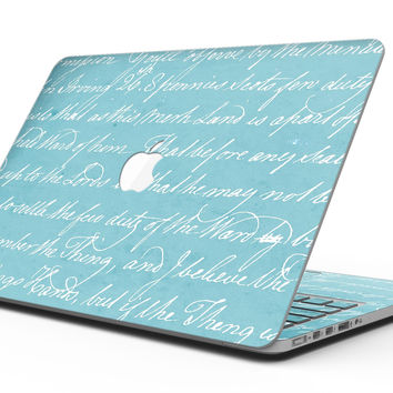 The Teal 18th Century Script - MacBook Pro with Retina Display Full-Coverage Skin Kit