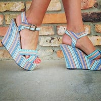 Tribal Print Wedge *FINAL SALE!*