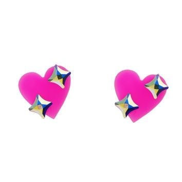 Sparkle Heart Emoji Earrings