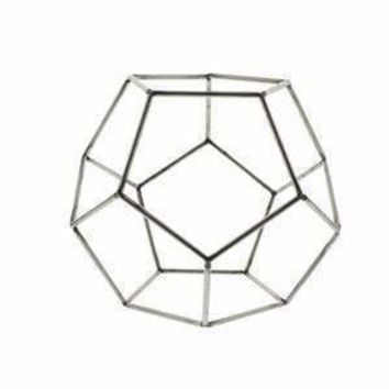 Steel Geo Dodecahedron Object - Set of 2