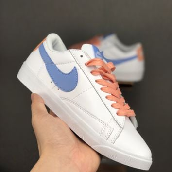 HCXX 19June 964 Nike Blazer Low LE casual board shoes white blue orange