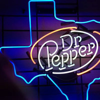 Dr Pepper Texas Neon Sign Real Neon Light
