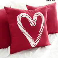 Aeropostale  Candy Cane Throw Pillow - Red, One