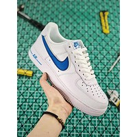 NIKE Air Force 1 '07 Classic Fashion Women Men Casual Sport Shoes Sneakers White&Blue