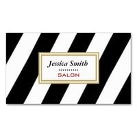 Proffesional elegant modern gentle stripes Double-Sided standard business cards (Pack of 100)