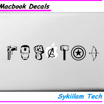 The Avengers Arms Logo for Apple Decal for Macbook Skin Air 11 13 Pro 13 15 Retina Computer Laptop Wall Vinyl Adesivo Sticker