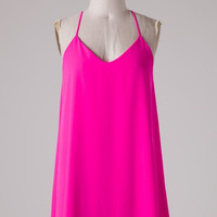 Keeping Promises Dress - Hot Pink