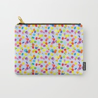 Festive confetti pattern Carry-All Pouch by Natalia Bykova