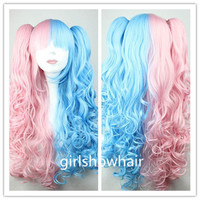70cm-60cm-Long-Pink-and-Blue-Mixed-Beautiful-lolita-wig-Anime-Wig Cosplay wigs JJCA