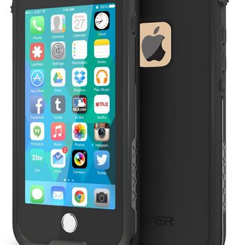 "CellEver iPhone 6 / 6s Case Waterproof Shockproof IP68 Certified SandProof SnowProof Full Body Protective Cover Fits Apple iPhone 6 and iPhone 6s (4.7"") - (Black)"