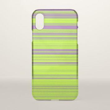 Purple and Green Stripes iPhone X Case