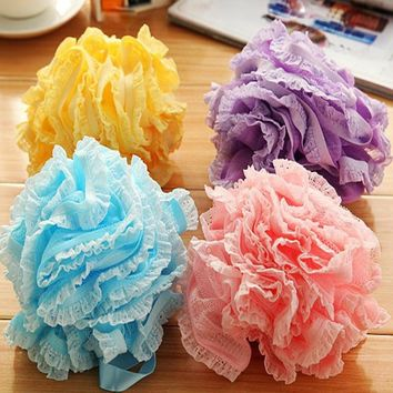 Multicolour Bath Ball Bath Tubs Cool Ball Bath Towel Scrubber Body Cleaning Mesh Flower Shower Sponge Wash Bathroom Accessories