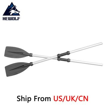 (Ship From 8 Countries) Hewolf 126cm Aluminum Alloy Detachable Float Afloat Oars Boat Rafting Paddle Canoe Oar boating