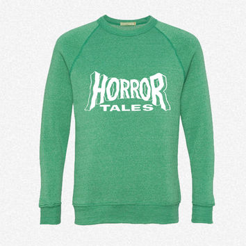 Horror Tales fleece crewneck sweatshirt