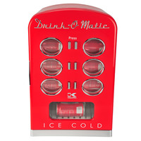 Retro Mini Cooler Fridge in Red