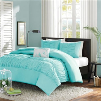 Full / Queen size Mint Blue Comforter Set