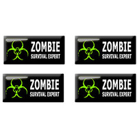 Zombie Survival Expert - Set of 3D Stickers