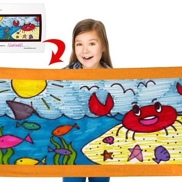 """Turn Your Child's Drawing into a 30"""" x 60"""" Beach Towel"""
