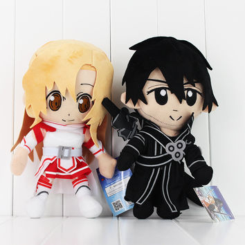 New 2pcs/lot  Sword Art Online Plush Kirito Asuna