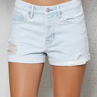 PacSun Sidecar Ripped Cuffed Denim Girlfriend Shorts at PacSun.com
