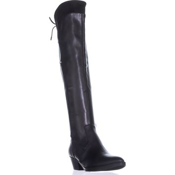 G by Guess Vianne2 Over-the-Knee Boots, Black Multi, 8.5 US