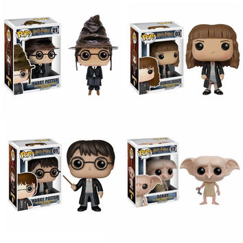 FUNKO POP Harry Potter Hat Cap Hermione Jean Grang Severus Snape Dobby PVC Action Figure toy Collection Model Doll Gifts Toys