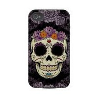Vintage Skull and Roses iPhone 4 Case-Mate Tough