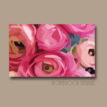 PINK Wall Art FLOWER CANVAS Painting Vivid Poppey Artwork Large Image Wrap Floral Bouquet Decor Free Shipping