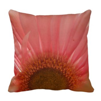 Pastel Pink and Yellow Daisy Center Pillows