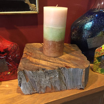 Reclaimed Barn Wood home accents used as candle holders, center pieces or Rustic Home Decor. Beautiful hand hewn barn beam Rustic Furniture.