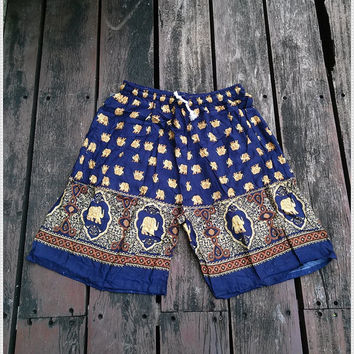 Unisex Men Women Elephant Shorts Print Boho Hobo Beach Hippie Exotic Summer Hipster Clothing Aztec Ethnic Bohemian Ikat Boxes Sleepwear Tank