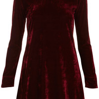 **Velvet Peter Pan Dress by Oh My Love - Dresses - Clothing - Topshop