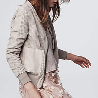 Honour Perforated Bomber Jacket