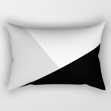 Monochromatic Rectangular Pillow by ARTbyJWP