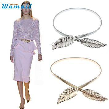 Womail Good Deal  New Fashion High Quality Women Ladies T-stage Belts Female Leaf Belt Chain Waistband Gift 1PC#