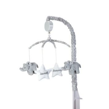 Wendy Bellissimo™ Mix & Match Elephants and Stars Musical Mobile in Grey/White