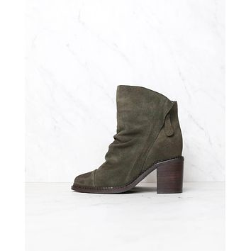 sbicca - millie womens suede leather booties - green