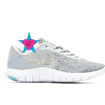 Bling Shoes for Girls Nike Flex Contact | 3.5-7
